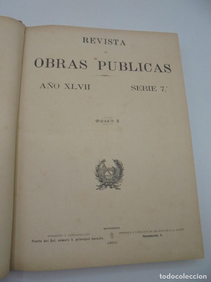 Libros antiguos: REVISTA DE OBRAS PUBLICAS. AÑO XLVII SERIE 7ª. AÑO COMPLETO. 1900. TOMO I Y II. VER FOTOS - Foto 5 - 275222398