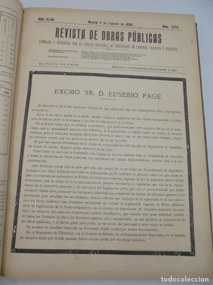 Libros antiguos: REVISTA DE OBRAS PUBLICAS. AÑO XLVII SERIE 7ª. AÑO COMPLETO. 1900. TOMO I Y II. VER FOTOS - Foto 13 - 275222398