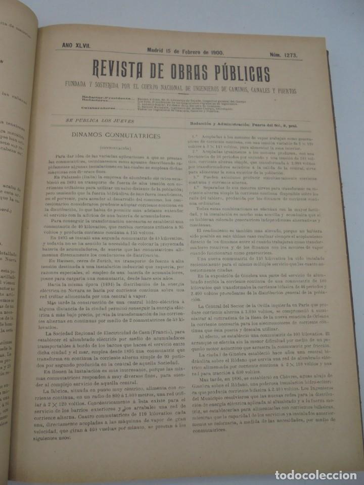 Libros antiguos: REVISTA DE OBRAS PUBLICAS. AÑO XLVII SERIE 7ª. AÑO COMPLETO. 1900. TOMO I Y II. VER FOTOS - Foto 14 - 275222398