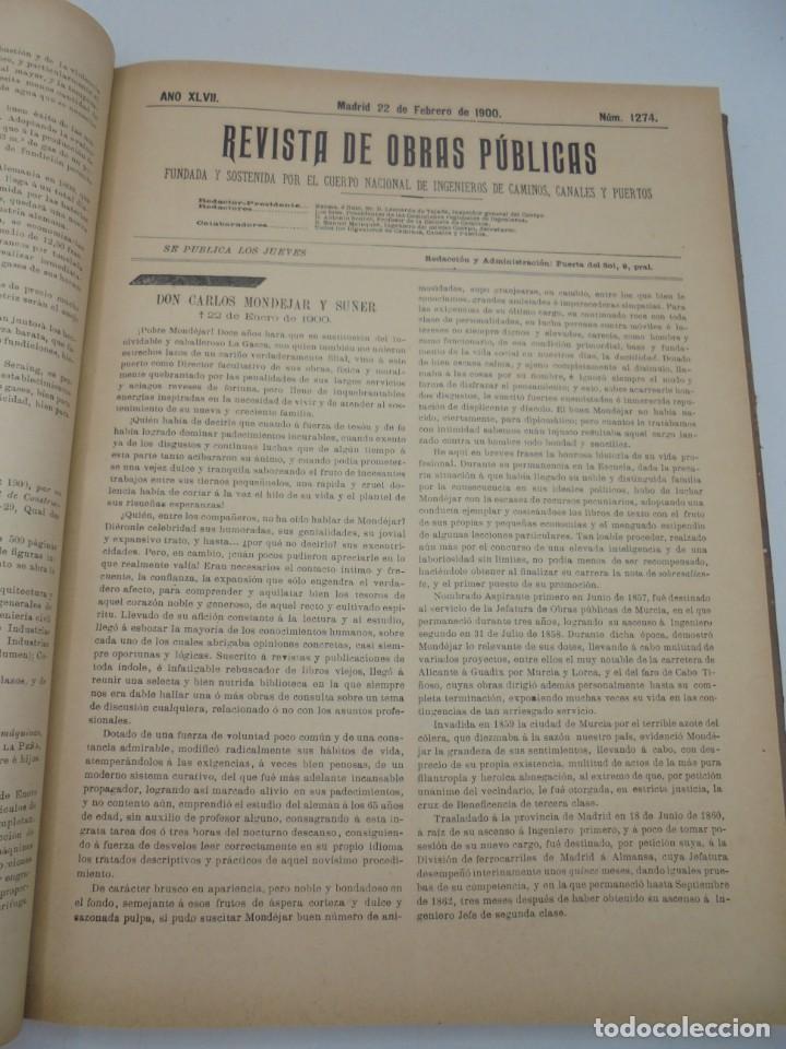 Libros antiguos: REVISTA DE OBRAS PUBLICAS. AÑO XLVII SERIE 7ª. AÑO COMPLETO. 1900. TOMO I Y II. VER FOTOS - Foto 15 - 275222398