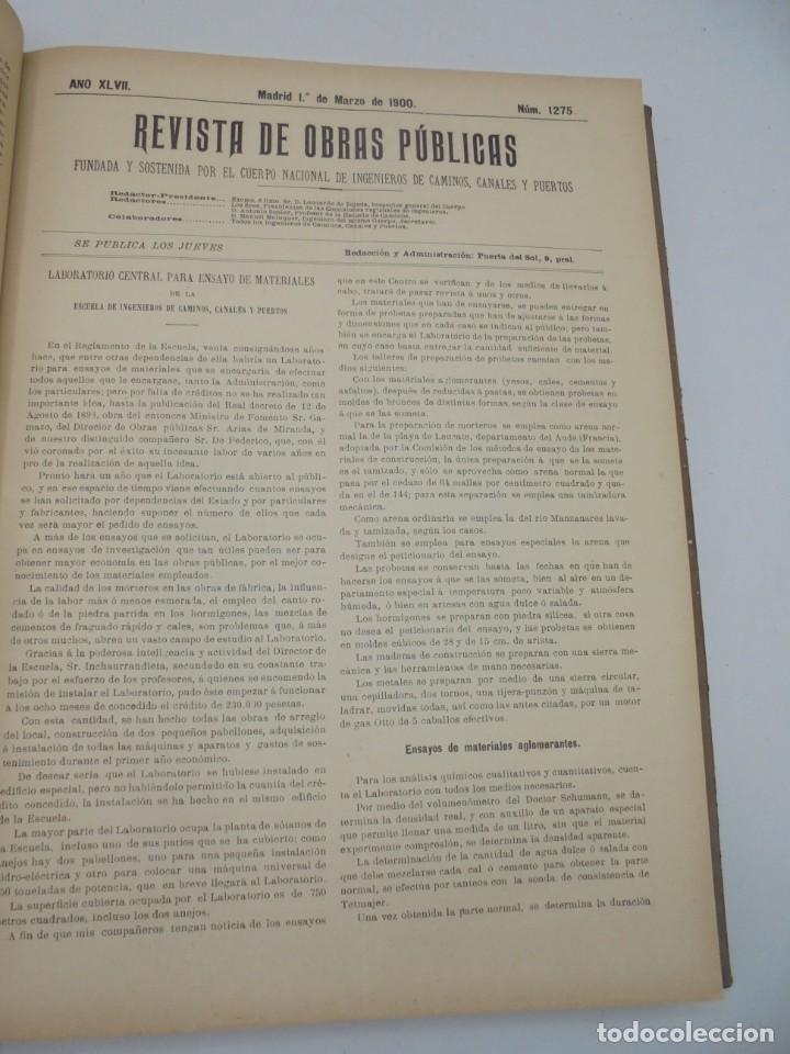 Libros antiguos: REVISTA DE OBRAS PUBLICAS. AÑO XLVII SERIE 7ª. AÑO COMPLETO. 1900. TOMO I Y II. VER FOTOS - Foto 16 - 275222398