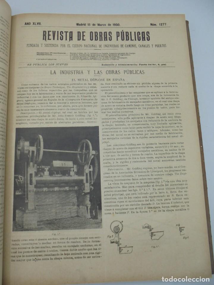 Libros antiguos: REVISTA DE OBRAS PUBLICAS. AÑO XLVII SERIE 7ª. AÑO COMPLETO. 1900. TOMO I Y II. VER FOTOS - Foto 20 - 275222398