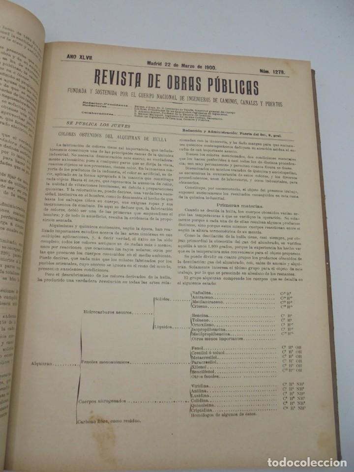 Libros antiguos: REVISTA DE OBRAS PUBLICAS. AÑO XLVII SERIE 7ª. AÑO COMPLETO. 1900. TOMO I Y II. VER FOTOS - Foto 21 - 275222398