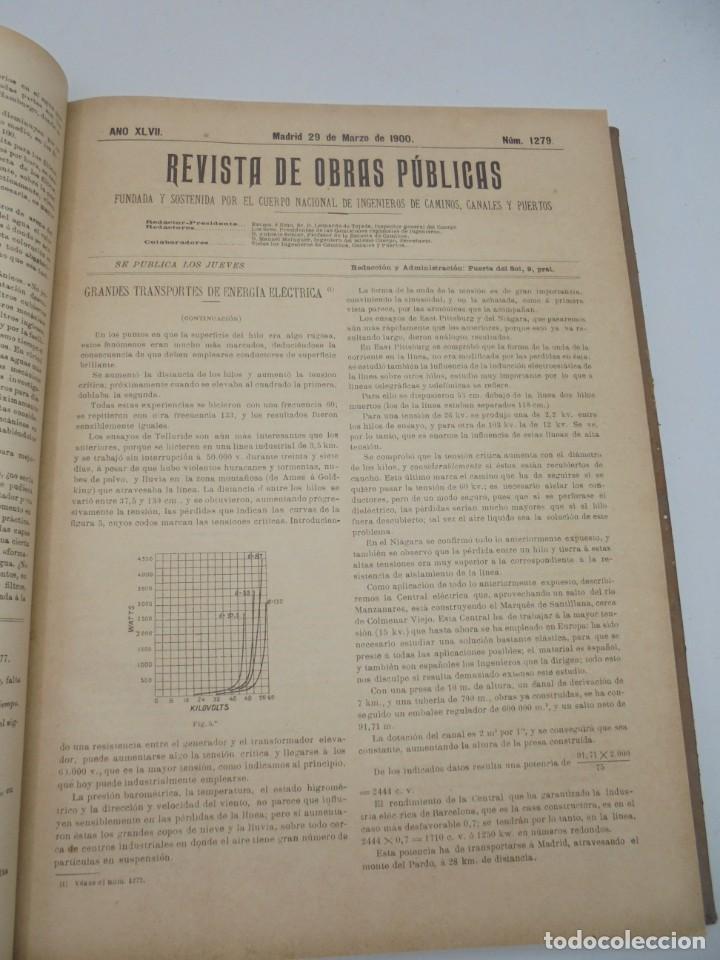 Libros antiguos: REVISTA DE OBRAS PUBLICAS. AÑO XLVII SERIE 7ª. AÑO COMPLETO. 1900. TOMO I Y II. VER FOTOS - Foto 22 - 275222398
