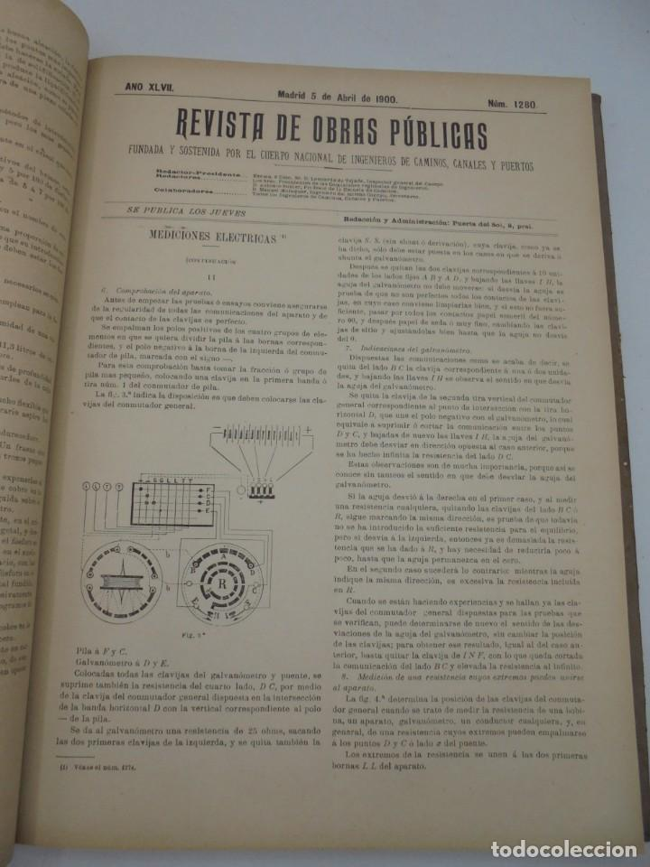Libros antiguos: REVISTA DE OBRAS PUBLICAS. AÑO XLVII SERIE 7ª. AÑO COMPLETO. 1900. TOMO I Y II. VER FOTOS - Foto 23 - 275222398