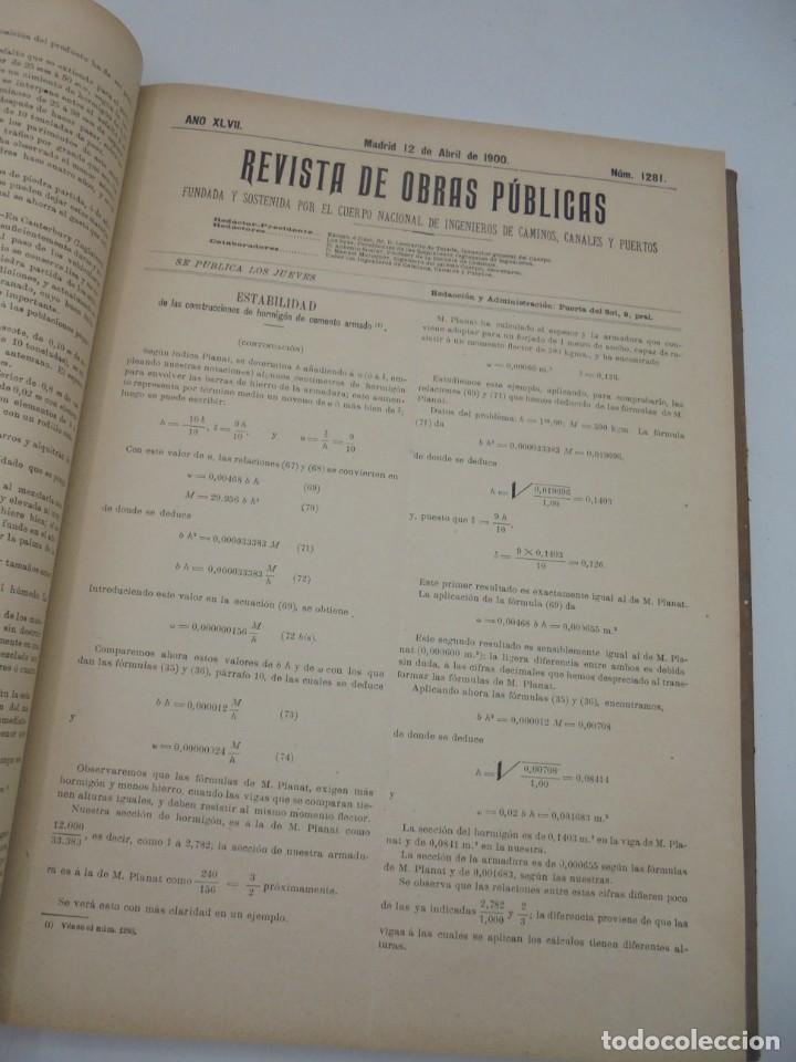 Libros antiguos: REVISTA DE OBRAS PUBLICAS. AÑO XLVII SERIE 7ª. AÑO COMPLETO. 1900. TOMO I Y II. VER FOTOS - Foto 24 - 275222398