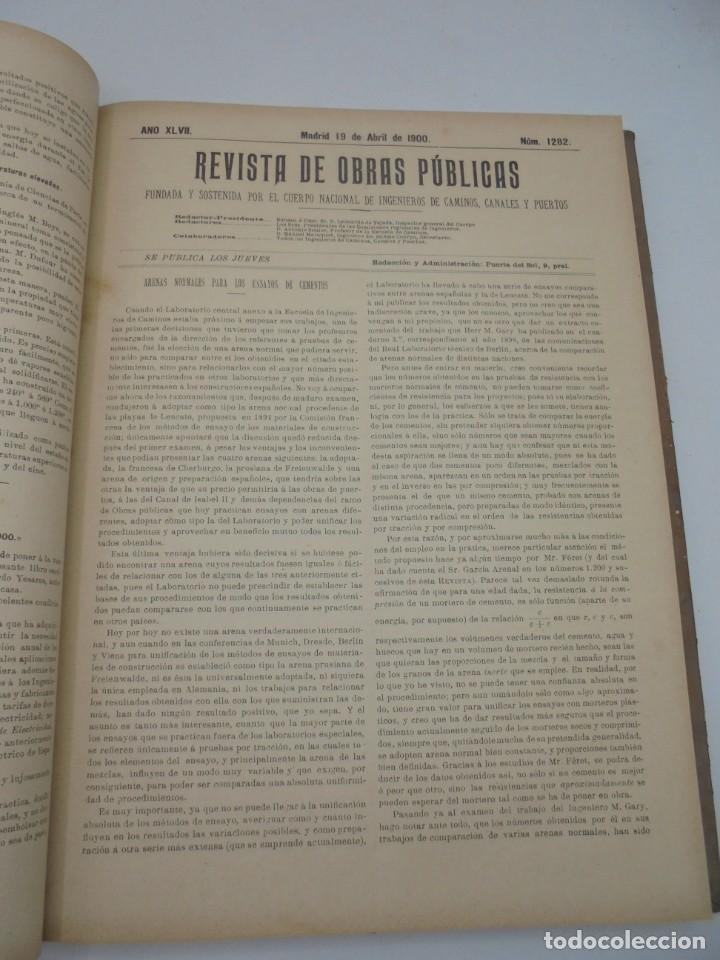 Libros antiguos: REVISTA DE OBRAS PUBLICAS. AÑO XLVII SERIE 7ª. AÑO COMPLETO. 1900. TOMO I Y II. VER FOTOS - Foto 25 - 275222398
