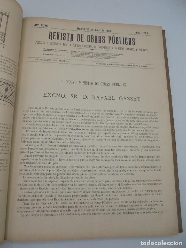 Libros antiguos: REVISTA DE OBRAS PUBLICAS. AÑO XLVII SERIE 7ª. AÑO COMPLETO. 1900. TOMO I Y II. VER FOTOS - Foto 26 - 275222398