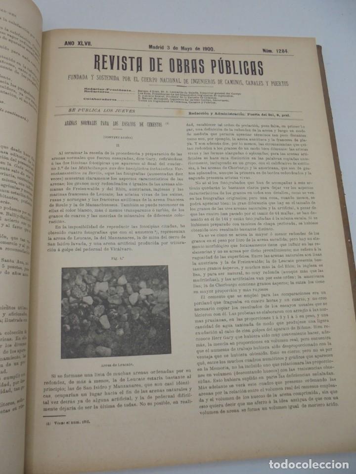 Libros antiguos: REVISTA DE OBRAS PUBLICAS. AÑO XLVII SERIE 7ª. AÑO COMPLETO. 1900. TOMO I Y II. VER FOTOS - Foto 27 - 275222398