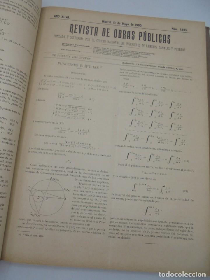 Libros antiguos: REVISTA DE OBRAS PUBLICAS. AÑO XLVII SERIE 7ª. AÑO COMPLETO. 1900. TOMO I Y II. VER FOTOS - Foto 28 - 275222398