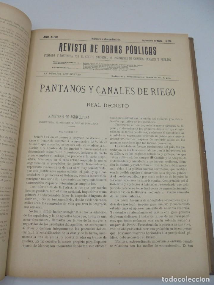 Libros antiguos: REVISTA DE OBRAS PUBLICAS. AÑO XLVII SERIE 7ª. AÑO COMPLETO. 1900. TOMO I Y II. VER FOTOS - Foto 29 - 275222398