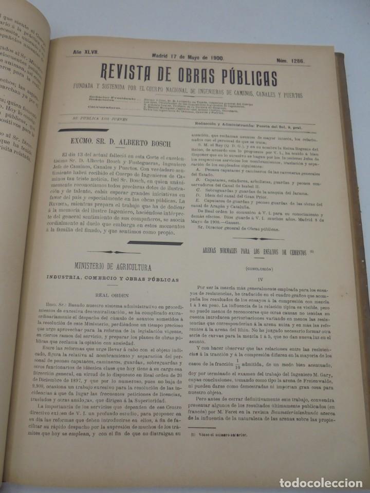 Libros antiguos: REVISTA DE OBRAS PUBLICAS. AÑO XLVII SERIE 7ª. AÑO COMPLETO. 1900. TOMO I Y II. VER FOTOS - Foto 30 - 275222398