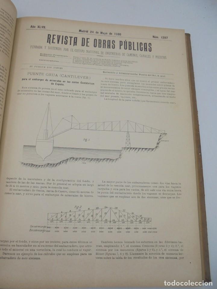 Libros antiguos: REVISTA DE OBRAS PUBLICAS. AÑO XLVII SERIE 7ª. AÑO COMPLETO. 1900. TOMO I Y II. VER FOTOS - Foto 31 - 275222398