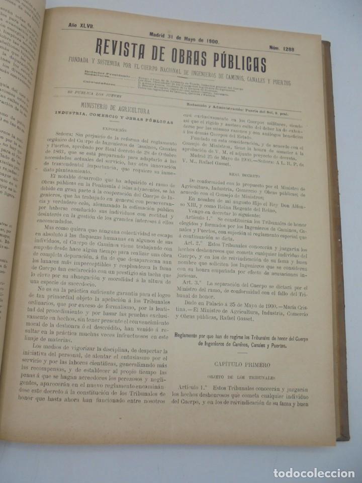 Libros antiguos: REVISTA DE OBRAS PUBLICAS. AÑO XLVII SERIE 7ª. AÑO COMPLETO. 1900. TOMO I Y II. VER FOTOS - Foto 32 - 275222398