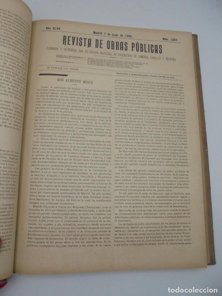 Libros antiguos: REVISTA DE OBRAS PUBLICAS. AÑO XLVII SERIE 7ª. AÑO COMPLETO. 1900. TOMO I Y II. VER FOTOS - Foto 33 - 275222398