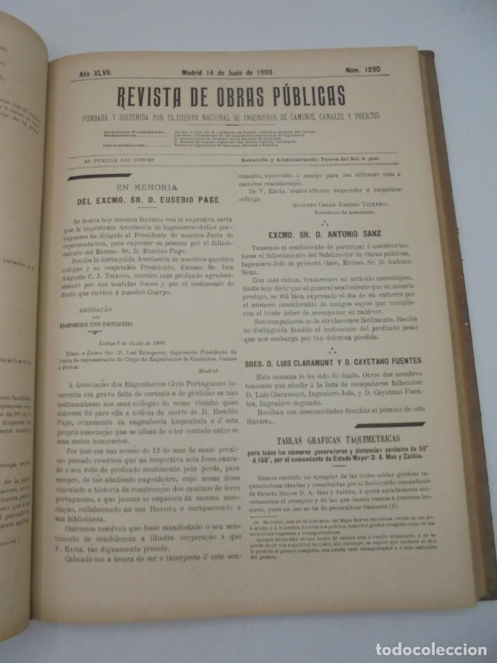Libros antiguos: REVISTA DE OBRAS PUBLICAS. AÑO XLVII SERIE 7ª. AÑO COMPLETO. 1900. TOMO I Y II. VER FOTOS - Foto 34 - 275222398