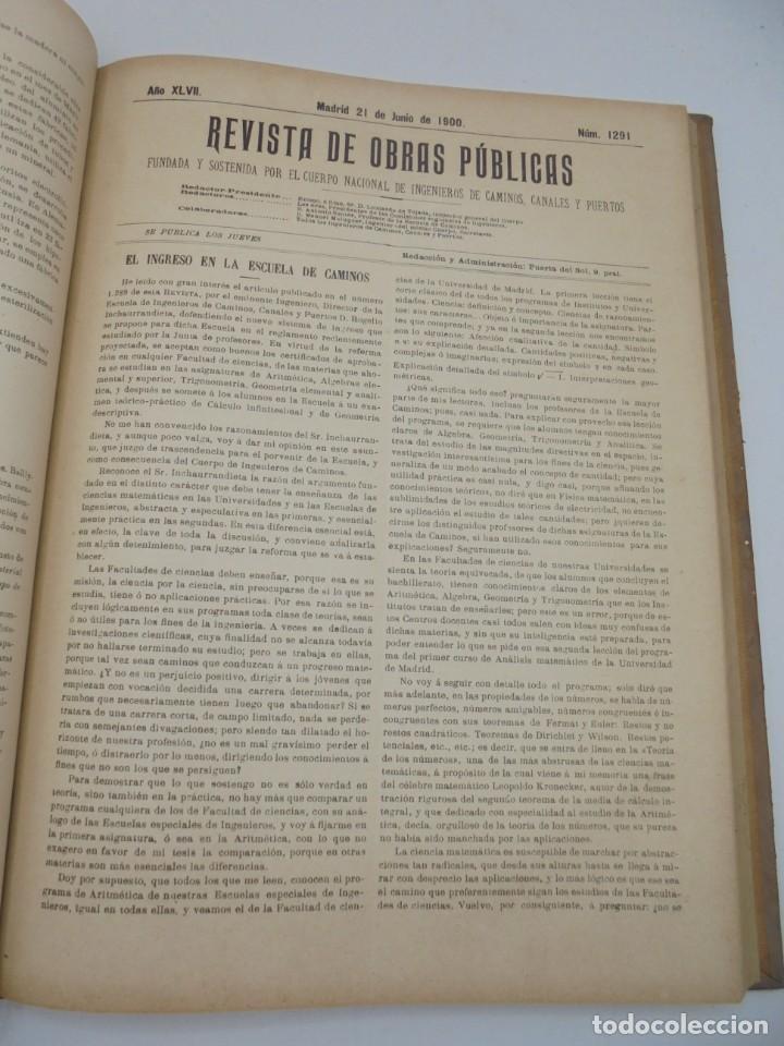 Libros antiguos: REVISTA DE OBRAS PUBLICAS. AÑO XLVII SERIE 7ª. AÑO COMPLETO. 1900. TOMO I Y II. VER FOTOS - Foto 35 - 275222398