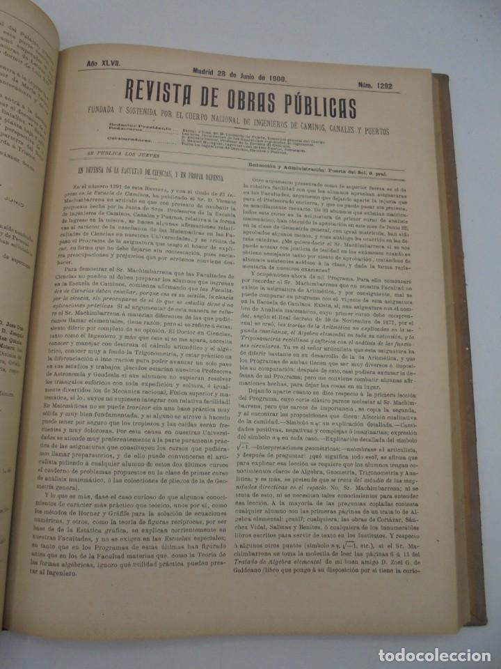 Libros antiguos: REVISTA DE OBRAS PUBLICAS. AÑO XLVII SERIE 7ª. AÑO COMPLETO. 1900. TOMO I Y II. VER FOTOS - Foto 37 - 275222398