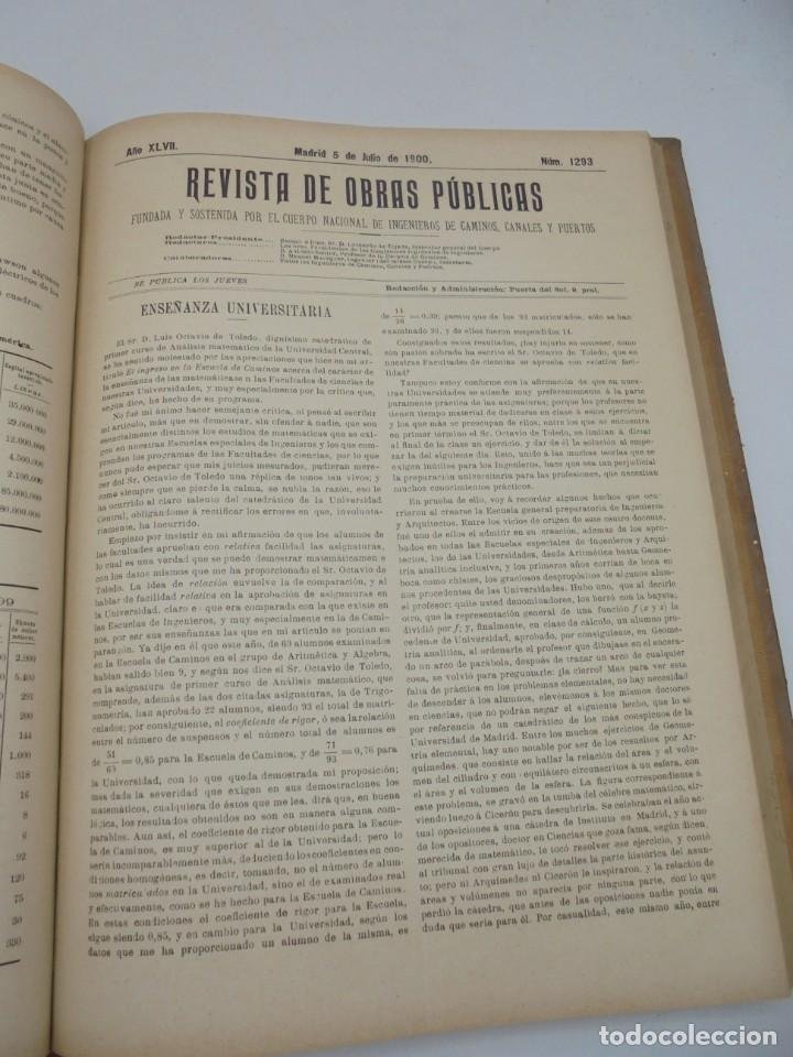 Libros antiguos: REVISTA DE OBRAS PUBLICAS. AÑO XLVII SERIE 7ª. AÑO COMPLETO. 1900. TOMO I Y II. VER FOTOS - Foto 38 - 275222398