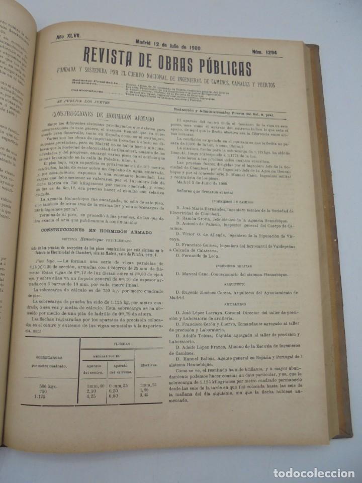 Libros antiguos: REVISTA DE OBRAS PUBLICAS. AÑO XLVII SERIE 7ª. AÑO COMPLETO. 1900. TOMO I Y II. VER FOTOS - Foto 39 - 275222398