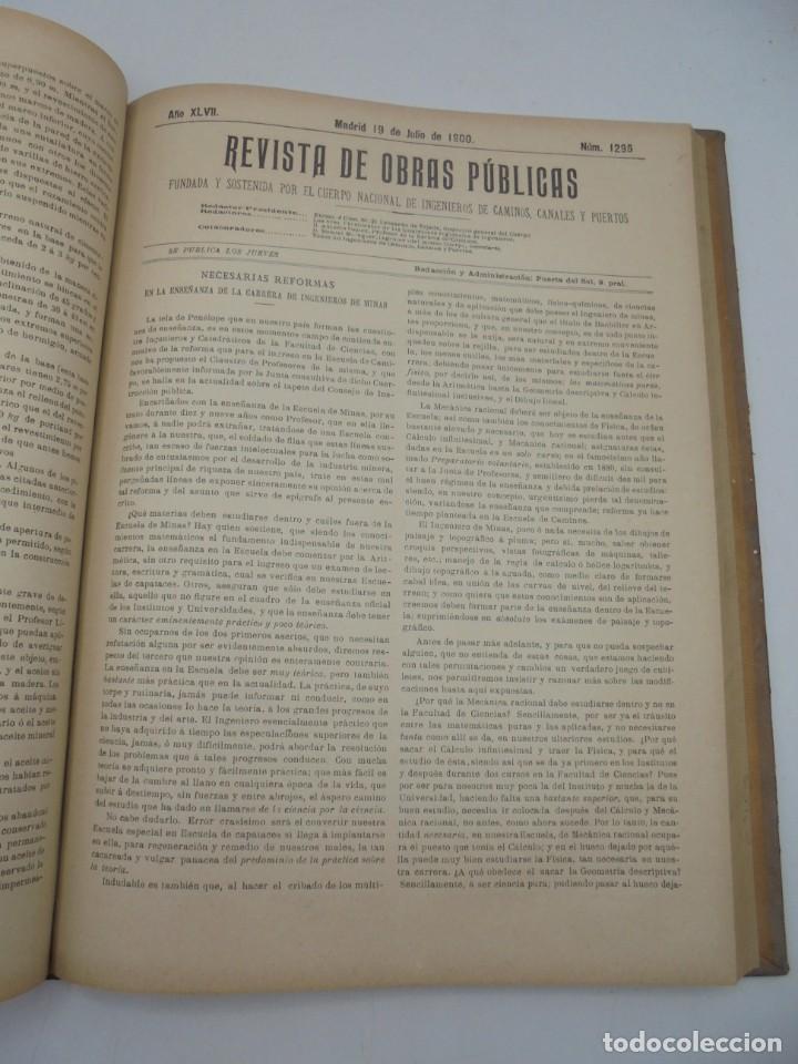 Libros antiguos: REVISTA DE OBRAS PUBLICAS. AÑO XLVII SERIE 7ª. AÑO COMPLETO. 1900. TOMO I Y II. VER FOTOS - Foto 40 - 275222398