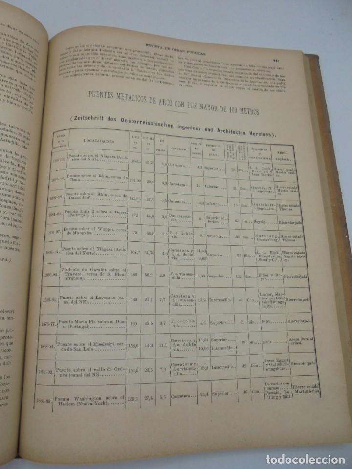Libros antiguos: REVISTA DE OBRAS PUBLICAS. AÑO XLVII SERIE 7ª. AÑO COMPLETO. 1900. TOMO I Y II. VER FOTOS - Foto 41 - 275222398