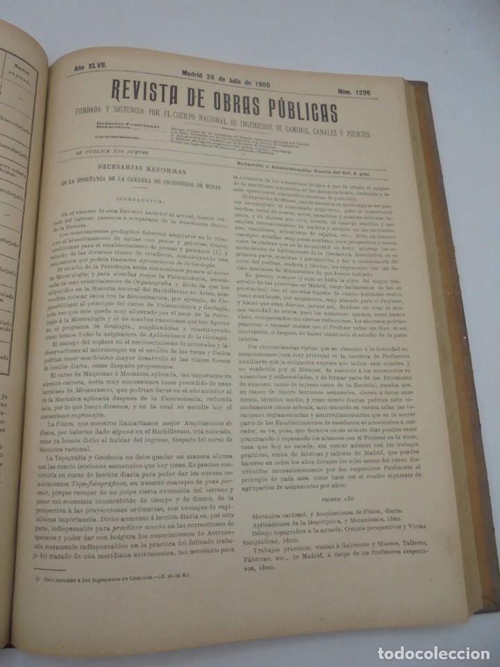 Libros antiguos: REVISTA DE OBRAS PUBLICAS. AÑO XLVII SERIE 7ª. AÑO COMPLETO. 1900. TOMO I Y II. VER FOTOS - Foto 42 - 275222398