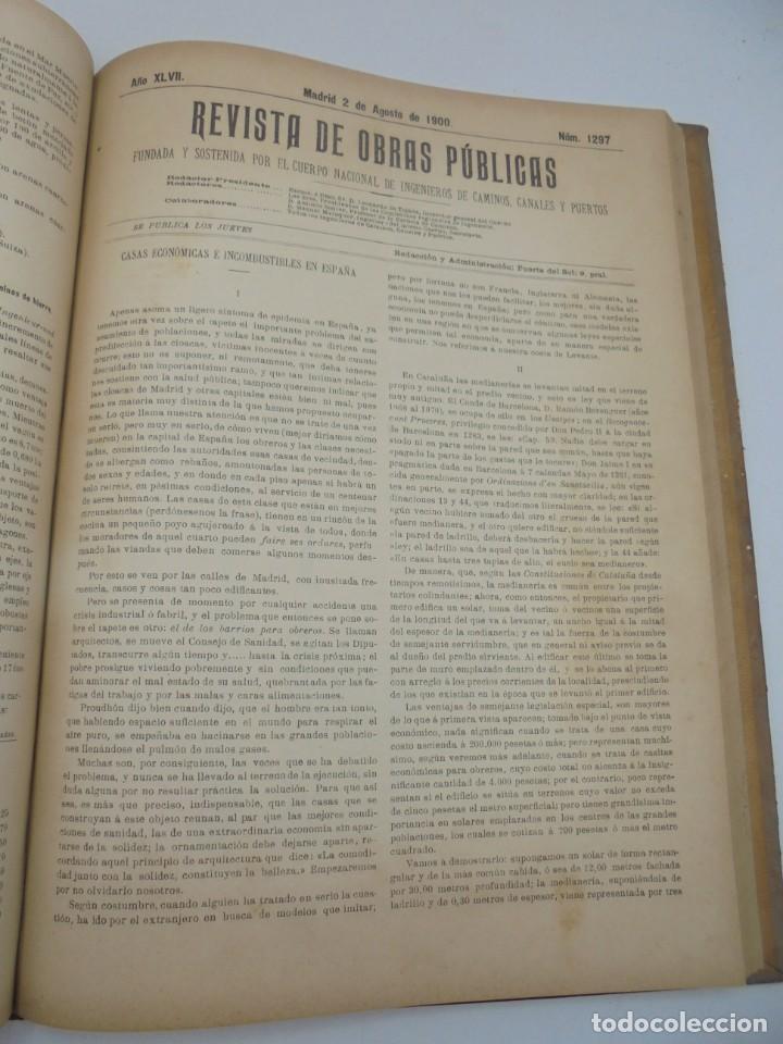 Libros antiguos: REVISTA DE OBRAS PUBLICAS. AÑO XLVII SERIE 7ª. AÑO COMPLETO. 1900. TOMO I Y II. VER FOTOS - Foto 43 - 275222398