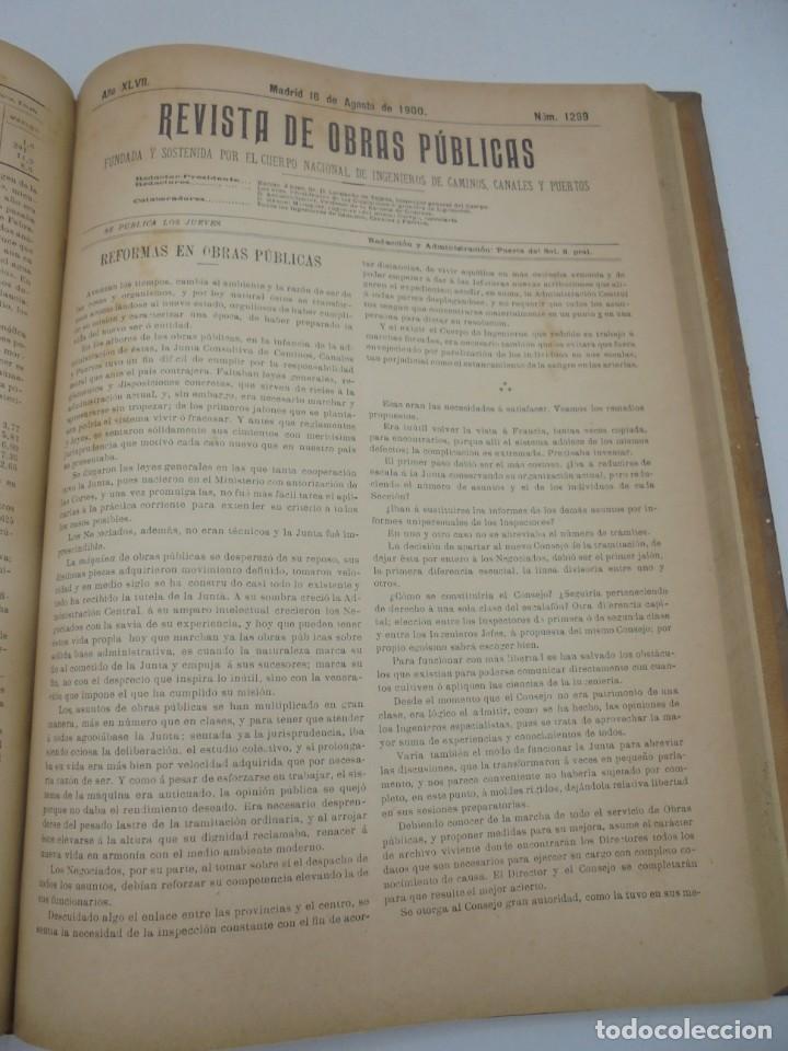 Libros antiguos: REVISTA DE OBRAS PUBLICAS. AÑO XLVII SERIE 7ª. AÑO COMPLETO. 1900. TOMO I Y II. VER FOTOS - Foto 45 - 275222398