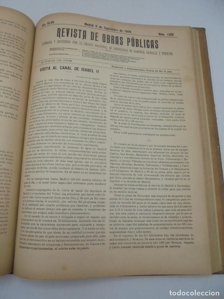 Libros antiguos: REVISTA DE OBRAS PUBLICAS. AÑO XLVII SERIE 7ª. AÑO COMPLETO. 1900. TOMO I Y II. VER FOTOS - Foto 48 - 275222398