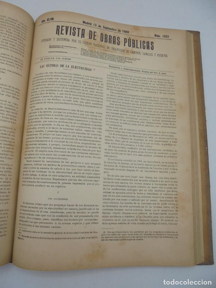 Libros antiguos: REVISTA DE OBRAS PUBLICAS. AÑO XLVII SERIE 7ª. AÑO COMPLETO. 1900. TOMO I Y II. VER FOTOS - Foto 49 - 275222398