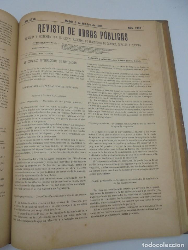 Libros antiguos: REVISTA DE OBRAS PUBLICAS. AÑO XLVII SERIE 7ª. AÑO COMPLETO. 1900. TOMO I Y II. VER FOTOS - Foto 52 - 275222398
