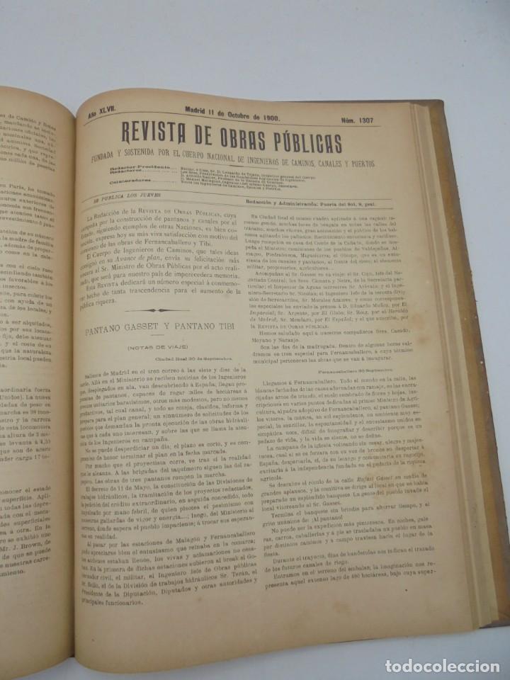 Libros antiguos: REVISTA DE OBRAS PUBLICAS. AÑO XLVII SERIE 7ª. AÑO COMPLETO. 1900. TOMO I Y II. VER FOTOS - Foto 53 - 275222398