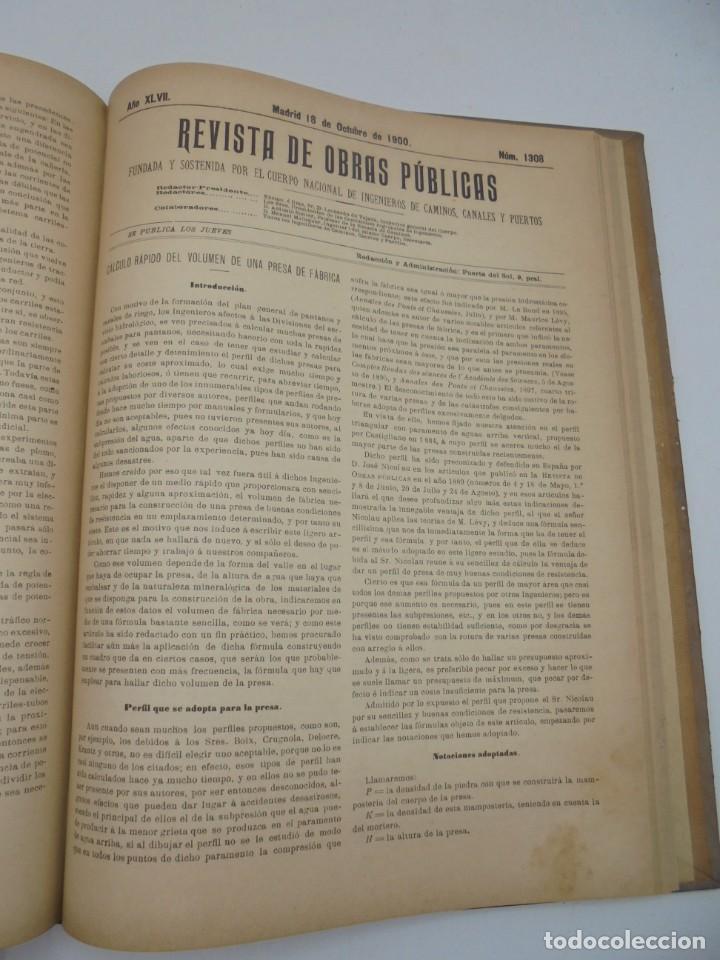 Libros antiguos: REVISTA DE OBRAS PUBLICAS. AÑO XLVII SERIE 7ª. AÑO COMPLETO. 1900. TOMO I Y II. VER FOTOS - Foto 54 - 275222398