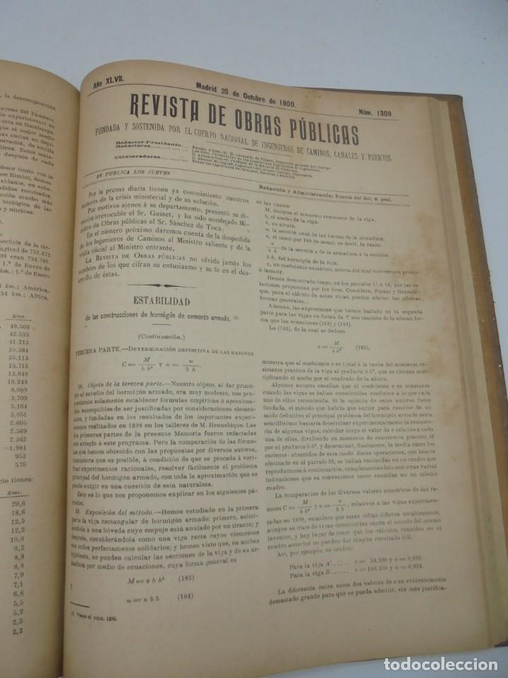Libros antiguos: REVISTA DE OBRAS PUBLICAS. AÑO XLVII SERIE 7ª. AÑO COMPLETO. 1900. TOMO I Y II. VER FOTOS - Foto 55 - 275222398