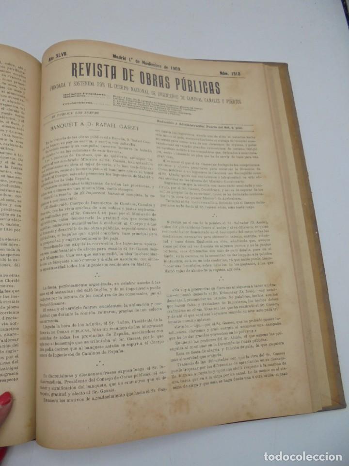 Libros antiguos: REVISTA DE OBRAS PUBLICAS. AÑO XLVII SERIE 7ª. AÑO COMPLETO. 1900. TOMO I Y II. VER FOTOS - Foto 56 - 275222398