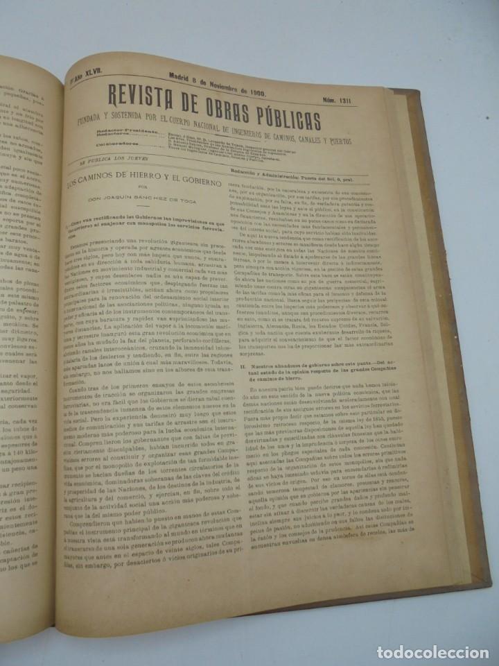 Libros antiguos: REVISTA DE OBRAS PUBLICAS. AÑO XLVII SERIE 7ª. AÑO COMPLETO. 1900. TOMO I Y II. VER FOTOS - Foto 57 - 275222398