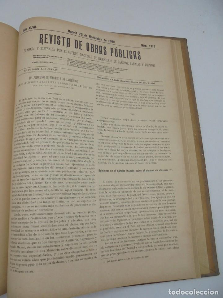 Libros antiguos: REVISTA DE OBRAS PUBLICAS. AÑO XLVII SERIE 7ª. AÑO COMPLETO. 1900. TOMO I Y II. VER FOTOS - Foto 59 - 275222398