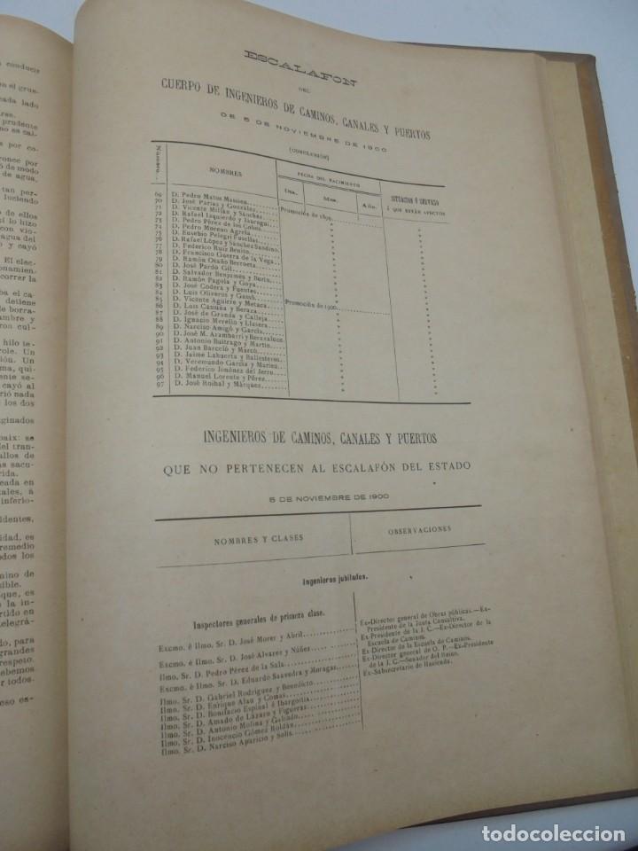 Libros antiguos: REVISTA DE OBRAS PUBLICAS. AÑO XLVII SERIE 7ª. AÑO COMPLETO. 1900. TOMO I Y II. VER FOTOS - Foto 60 - 275222398