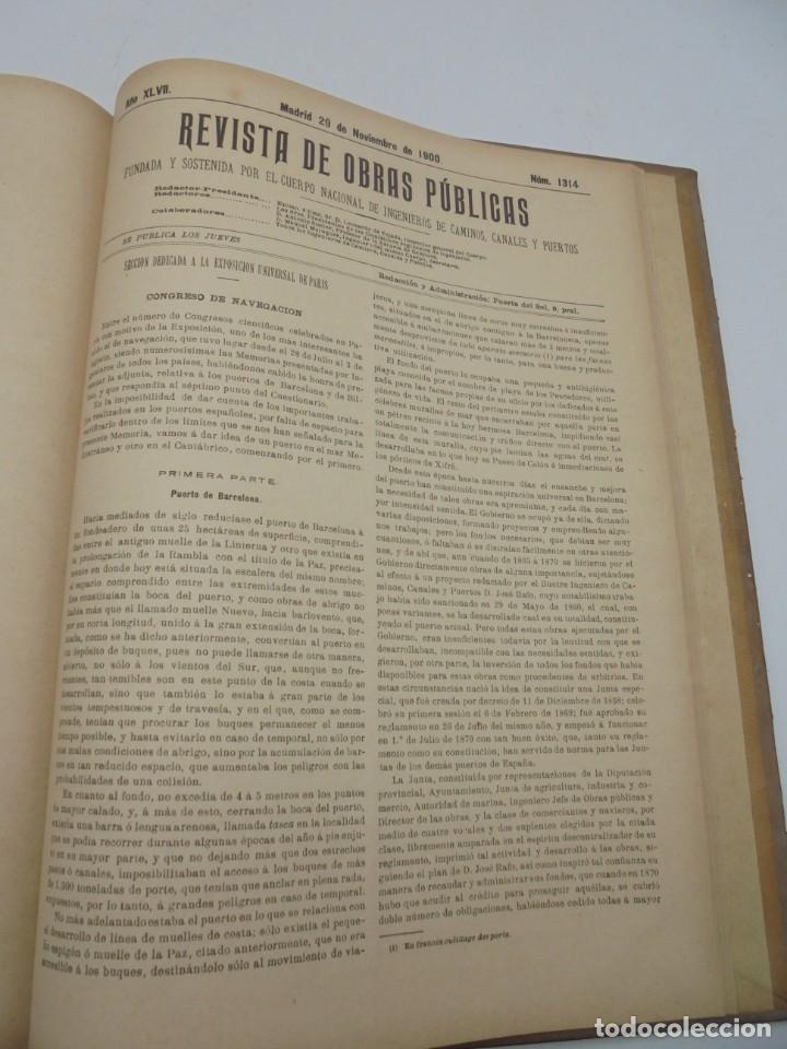 Libros antiguos: REVISTA DE OBRAS PUBLICAS. AÑO XLVII SERIE 7ª. AÑO COMPLETO. 1900. TOMO I Y II. VER FOTOS - Foto 61 - 275222398