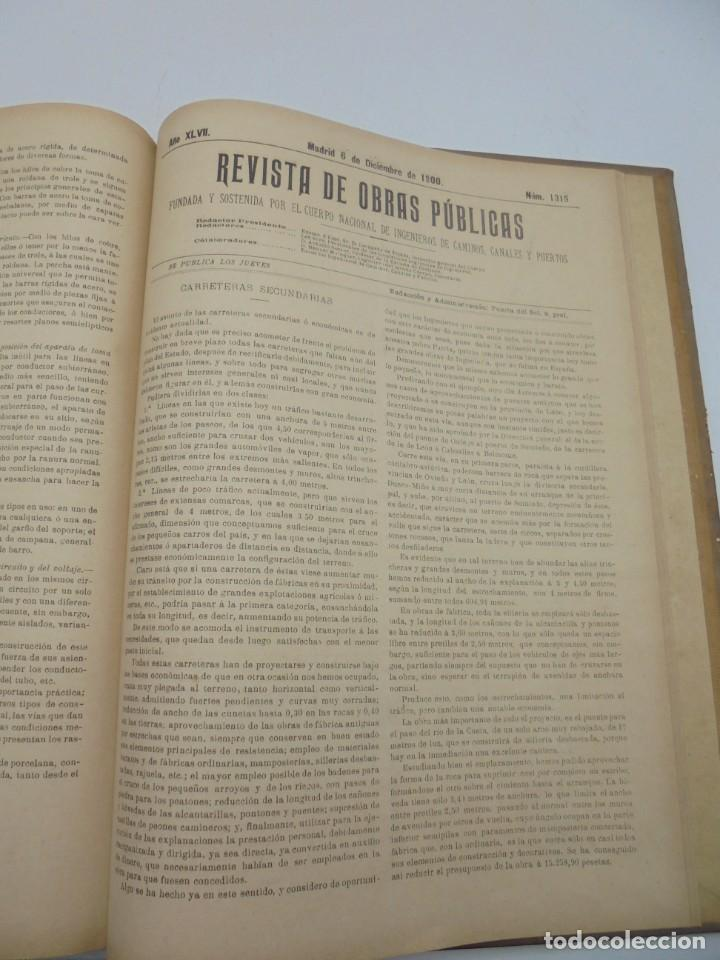 Libros antiguos: REVISTA DE OBRAS PUBLICAS. AÑO XLVII SERIE 7ª. AÑO COMPLETO. 1900. TOMO I Y II. VER FOTOS - Foto 62 - 275222398