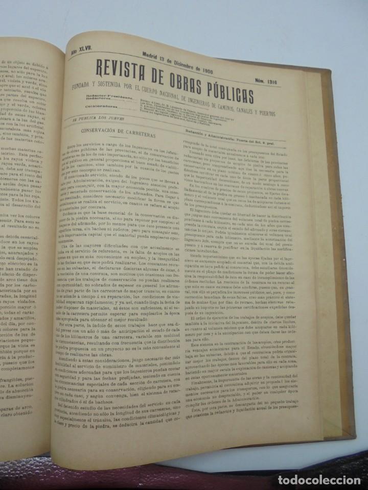 Libros antiguos: REVISTA DE OBRAS PUBLICAS. AÑO XLVII SERIE 7ª. AÑO COMPLETO. 1900. TOMO I Y II. VER FOTOS - Foto 64 - 275222398