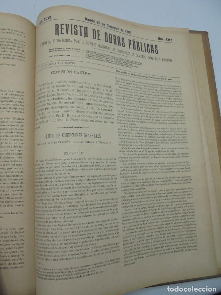 Libros antiguos: REVISTA DE OBRAS PUBLICAS. AÑO XLVII SERIE 7ª. AÑO COMPLETO. 1900. TOMO I Y II. VER FOTOS - Foto 65 - 275222398