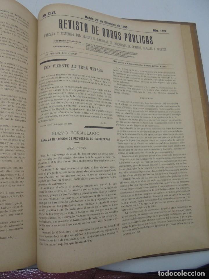 Libros antiguos: REVISTA DE OBRAS PUBLICAS. AÑO XLVII SERIE 7ª. AÑO COMPLETO. 1900. TOMO I Y II. VER FOTOS - Foto 66 - 275222398