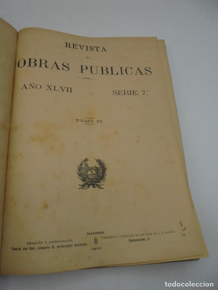 Libros antiguos: REVISTA DE OBRAS PUBLICAS. AÑO XLVII SERIE 7ª. AÑO COMPLETO. 1900. TOMO I Y II. VER FOTOS - Foto 70 - 275222398