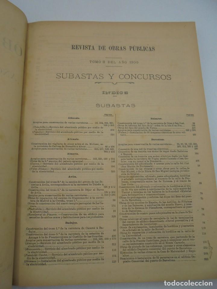 Libros antiguos: REVISTA DE OBRAS PUBLICAS. AÑO XLVII SERIE 7ª. AÑO COMPLETO. 1900. TOMO I Y II. VER FOTOS - Foto 71 - 275222398