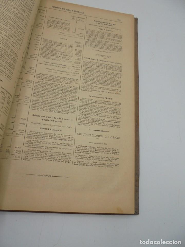 Libros antiguos: REVISTA DE OBRAS PUBLICAS. AÑO XLVII SERIE 7ª. AÑO COMPLETO. 1900. TOMO I Y II. VER FOTOS - Foto 73 - 275222398