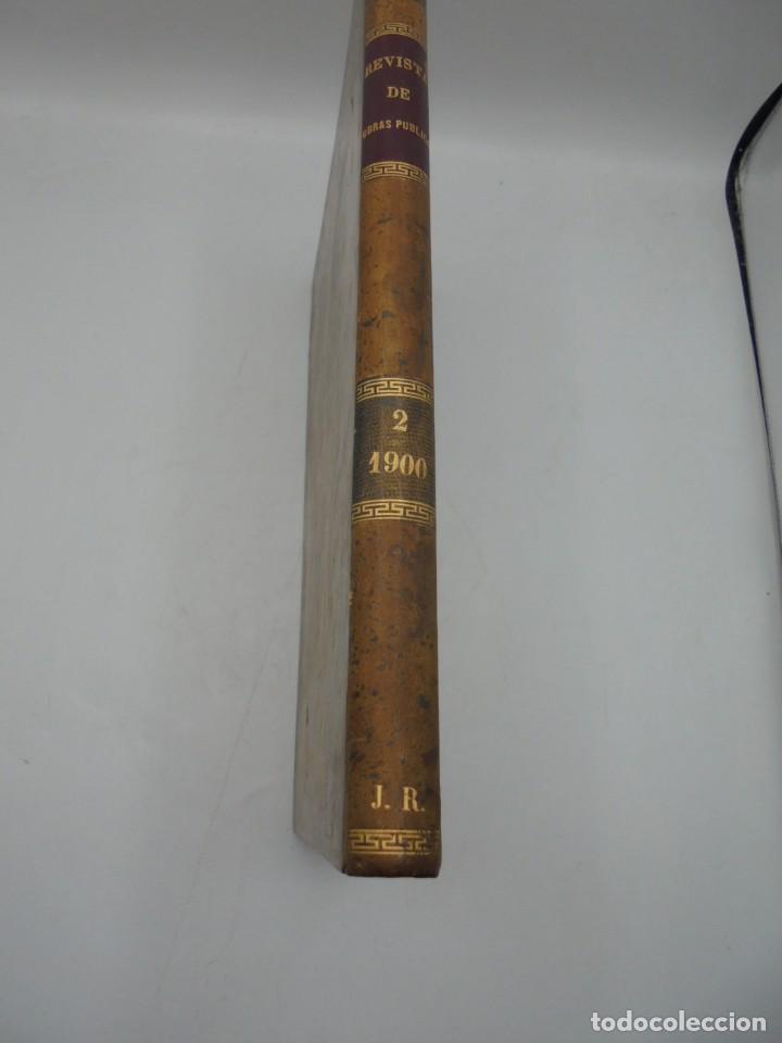 Libros antiguos: REVISTA DE OBRAS PUBLICAS. AÑO XLVII SERIE 7ª. AÑO COMPLETO. 1900. TOMO I Y II. VER FOTOS - Foto 75 - 275222398