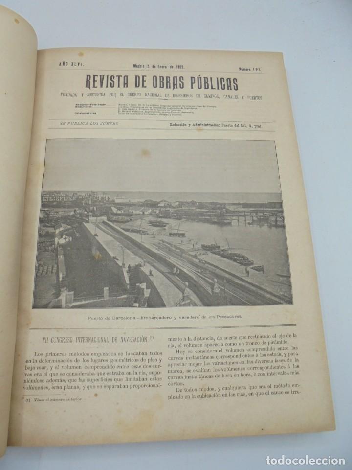 Libros antiguos: REVISTA DE OBRAS PUBLICAS. AÑO XLVI SERIE 7ª. AÑO COMPLETO. 1899. TOMO I Y II. VER FOTOS - Foto 6 - 275226183