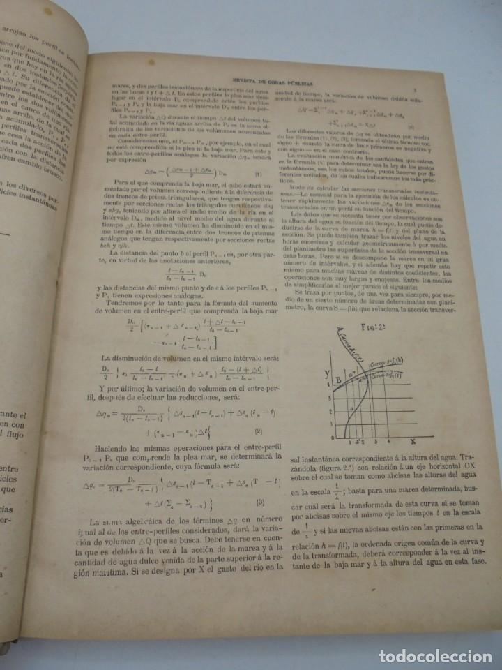 Libros antiguos: REVISTA DE OBRAS PUBLICAS. AÑO XLVI SERIE 7ª. AÑO COMPLETO. 1899. TOMO I Y II. VER FOTOS - Foto 7 - 275226183